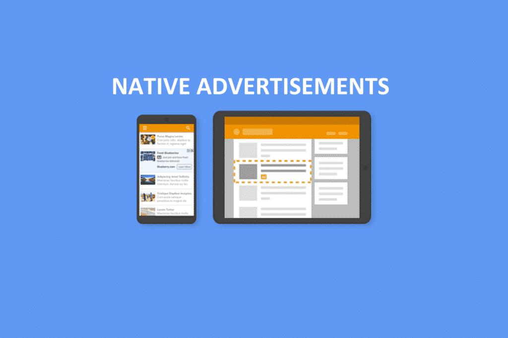 Native advertisements
